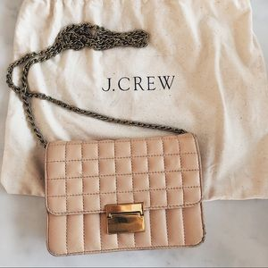 J. Crew   Quilted crossbody purse